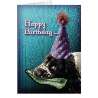 Cartão Calçados da mastigação do feliz aniversario….