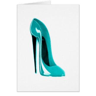 Cartão Calçados do estilete de turquesa