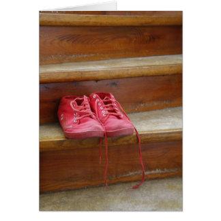 Cartão Calçados vermelhos