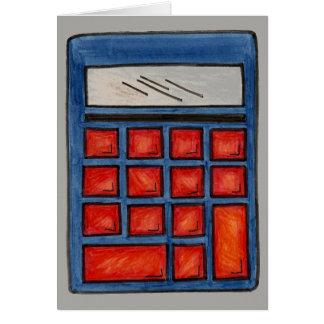 Cartão Calculadora do nerd da matemática da educação do