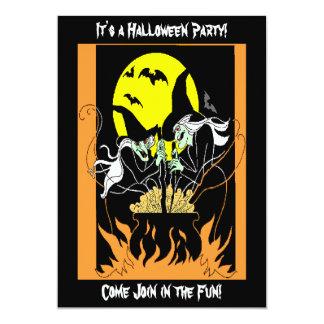 Cartão Caldeirão das bruxas do Dia das Bruxas