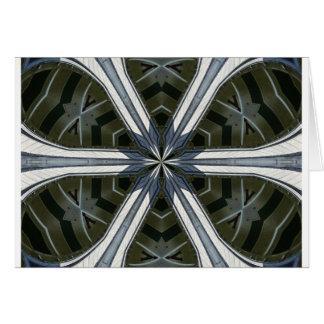 Cartão caleidoscópio abstrato