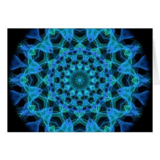 Cartão Caleidoscópio azul das medusa