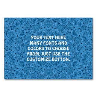 Cartão Caleidoscópio azul decorativo Tablecards do