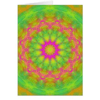 Cartão Caleidoscópio de néon