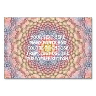 Cartão Caleidoscópio Tablecards do vintage dos Pastels