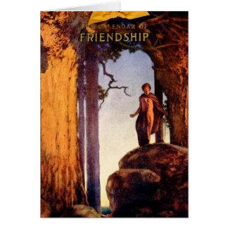 Cartão Calendário da amizade - Maxfield Parrish