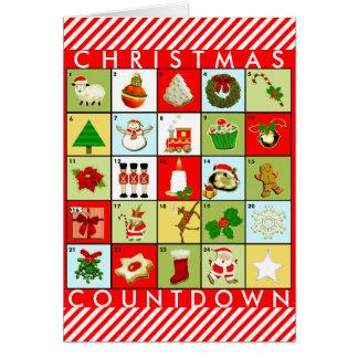 Cartão Calendário do advento do Natal