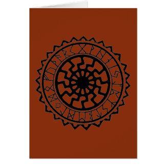 Cartão Calendário do Rune de Sun do céltico de Viking
