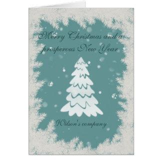 Cartão Calendário incorporado 2018 da árvore de Natal do