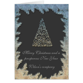 Cartão Calendário incorporado 2018 da árvore de Natal na