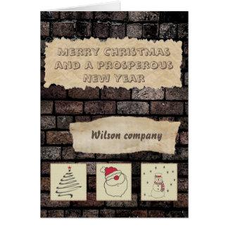 Cartão Calendário incorporado do feriado do Natal