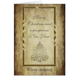 Cartão Calendário incorporado do Natal elegante na moda