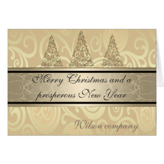 Cartão Calendário incorporado do Natal floral na moda do