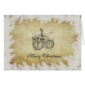 Cartão Calendário velho retro elegante do Natal da