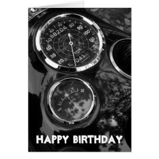 Cartão Calibres da motocicleta - aniversário