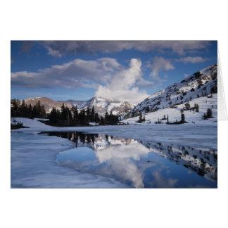 Cartão Califórnia, serra montanhas de Nevada, pico de