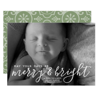 Cartão Caligrafia alegre & brilhante - foto horizontal