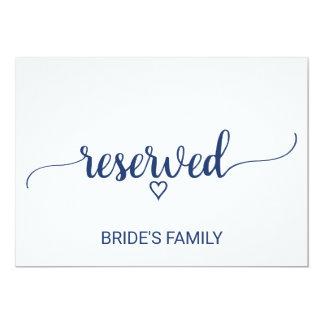 Cartão Caligrafia simples dos azuis marinhos que Wedding