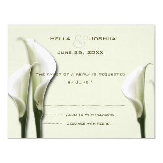 Cartão Calla branco Lillies RSVP