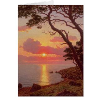 Cartão Calme de Soir, Cote d'Azur