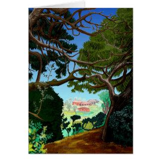 Cartão calmo da paisagem