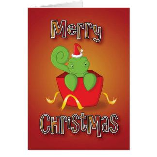 Cartão camaleão - caixa - Feliz Natal