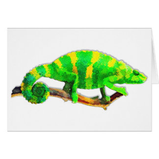Cartão Camaleão Chartreuse