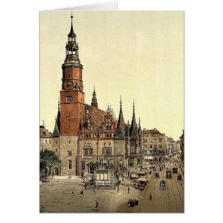 Cartão Câmara municipal, Breslau, Silesia, Alemanha (isto