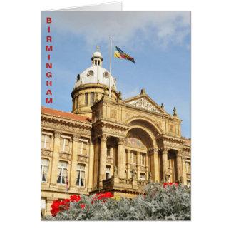 Cartão Câmara municipal em Birmingham, Inglaterra Reino