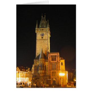 Cartão Câmara municipal velha Praga
