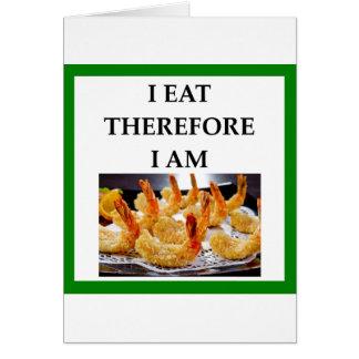 Cartão camarão