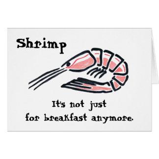 Cartão Camarão grande, camarão, não é apenas para o