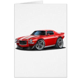 Cartão Camaro 1970-73 vermelho/branco
