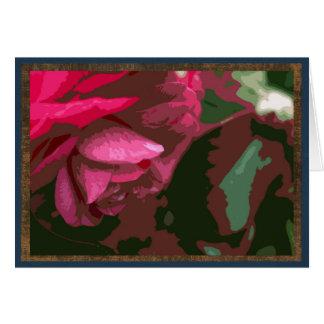 Cartão Camélia vermelha
