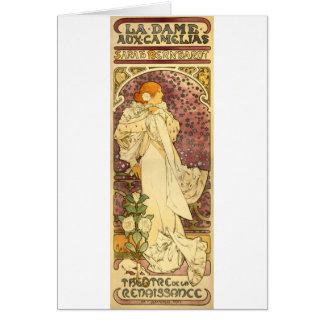 Cartão Camelias auxiliares da dama do La