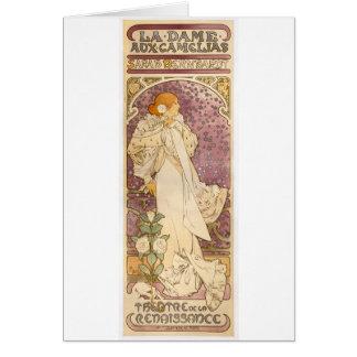 Cartão Camélias francesas de Nouveau da arte - Alphonse