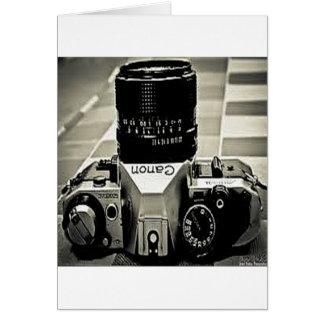 Cartão Câmera do vintage