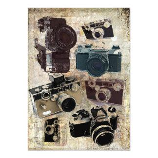 Cartão Câmera do vintage da fotografia do fotógrafo do