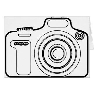 Cartão Câmera preto e branco