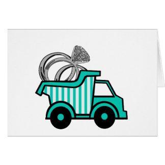 Cartão Camião basculante do portador de anel