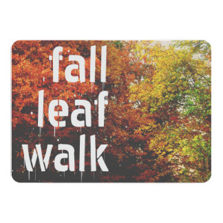 Cartão Caminhada da folha da queda