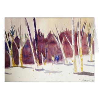 Cartão Caminhada do inverno