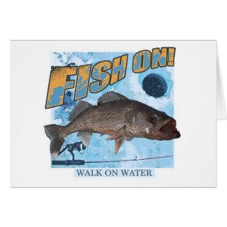 Cartão Caminhada em walleye da água