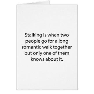 Cartão Caminhada romântica de desengaço