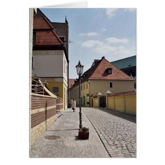 Cartão Caminhada velha da cidade