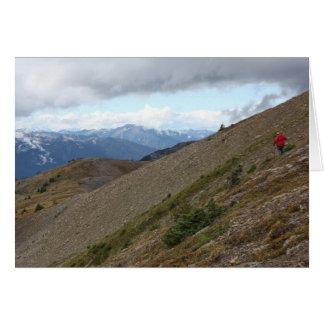Cartão Caminhando no copo de prata, Columbia Britânica,