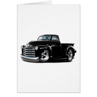 Cartão Caminhão 1950-52 preto de Chevy