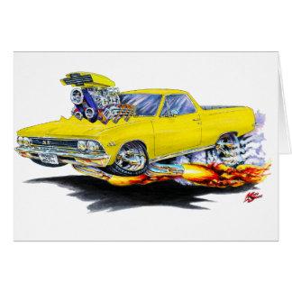 Cartão Caminhão 1966 amarelo do EL Camino