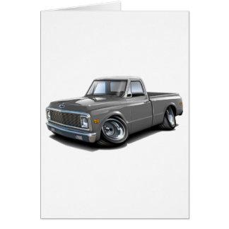 Cartão Caminhão 1970-72 superior Cinzento-Branco de Chevy